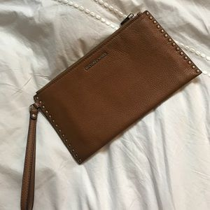 Michael Kors Brown Wristlet